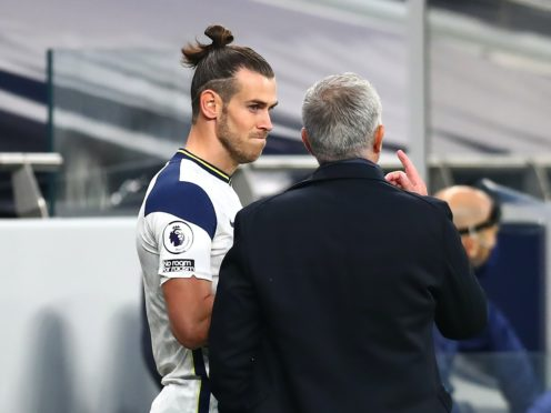 Tottenham boss Jose Mourinho was delighted for Gareth Bale, left, after he scored the winner against Brighton (Clive Rose/PA)