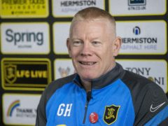 Gary Holt's side secured a point at Ross County (Jeff Holmes/PA)