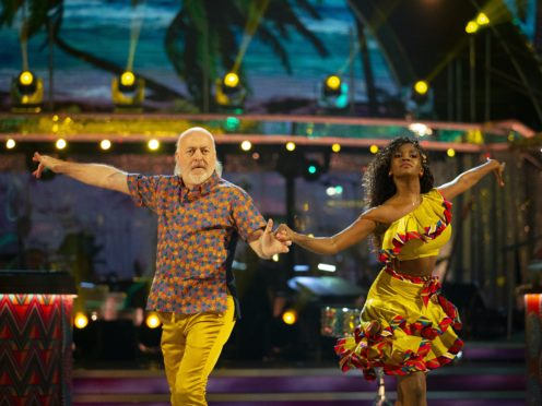 Bill Bailey is partnered on the programme with Oti Mabuse (Guy Levy/BBC/PA)