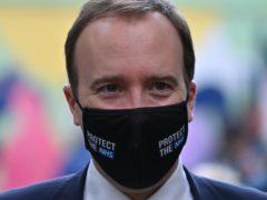 Health Secretary Matt Hancock (Justin Tallis/PA)