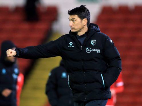 Watford manager Vladimir Ivic will be without three players due to positive Covid-19 tests (Mike Egerton/PA)
