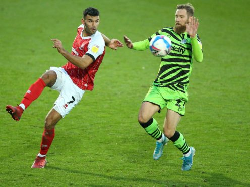 Scott Wagstaff (right) could return for Forest Green (Nigel French/PA).