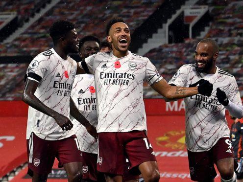 Arsenal's Pierre-Emerick Aubameyang should return against Aston Villa (Paul Ellis/PA)