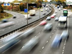 EMBARGOED TO 0001 TUESDAY NOVEMBER 03 File photo dated 26/10/09 of drivers on a motorway. Half of drivers were spending less time on the road than normal even before new lockdown restrictions were announced, a survey suggests.