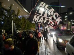 Protesters march in Seattle (AP/Ted S. Warren)