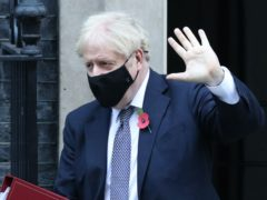 Boris Johnson leaves 10 Downing Street to attend Prime Minister's Questions (Jonathan Brady/PA)