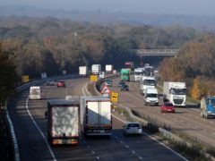 A view of the M20 motorway in Ashford, Kent (Gareth Fuller/PA)
