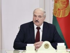 Sanctions have been imposed on the Belarus president (Nikolai Petrov/PA)