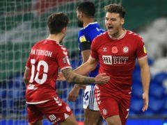 Chris Martin (right) scored Bristol City's winner (Mike Egerton/PA)