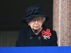 The Queen during the Remembrance Sunday service at the Cenotaph (Aaron Chown/PA)