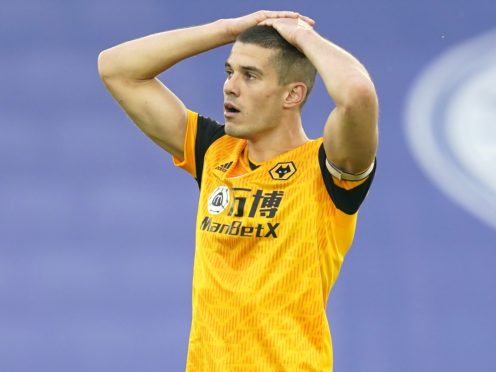 Conor Coady's long ever-present run is at an end (Tim Keeton/PA)