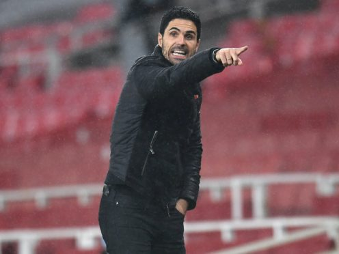 Mikel Arteta admits Arsenal are some way off being challengers for the Premier League title (Andy Rain/PA)