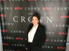Olivia Colman taking part in a virtual launch of The Crown Season Four Premiere from her home (Netflix/PA)