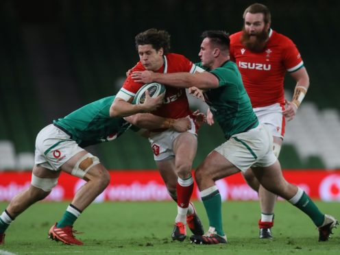 Lloyd Williams (centre) will start for Wales against England (Brian Lawless/PA)