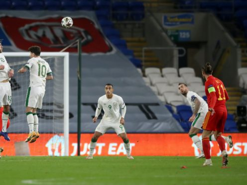 Gareth Bale (right) goes close from a free-kick in Wales' Nations League clash with the Republic of Ireland (Nick Potts/PA)