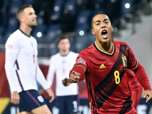 Youri Tielemans opened the scoring for Belgium (Dirk Waem/Belga/PA)