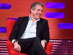 Hugh Grant during filming for the Graham Norton Show (So TV/PA)