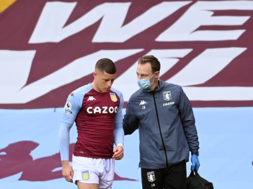 Aston Villa's Ross Barkley was forced off against Brighton with a hamstring injury (Laurence Griffiths/PA)