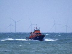 Two rescue vessels are involved in the search (Steve Parsons/PA)