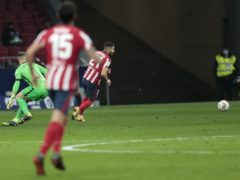 Yannick Carrasco made the most of a mistake from Barcelona goalkeeper Marc-Andre Ter Stegen at the Wanda Metropolitano (Bernat Armangue/AP)
