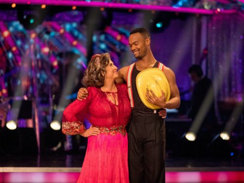Caroline Quentin and Johannes Radebe (Guy Levy/BBC/PA)