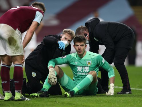 Nick Pope, centre, needed treatment after thwarting Christian Benteke (Jan Kruger/PA)