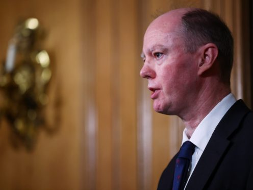 England's chief medical officer, Professor Chris Whitty (Henry Nicholls/PA Wire)