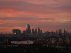 A view of the City of London (Yui Mok/PA)