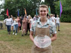 Peter Sawkins, 20, the winner of The Great British Bake Off 2020 (C4/Love Productions/Mark Bourdillon/PA)