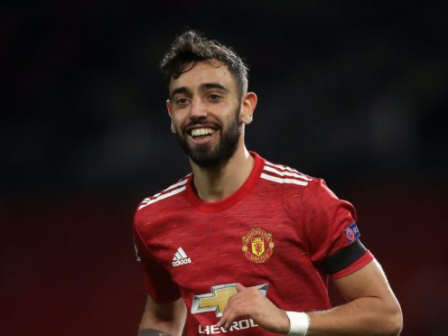 Bruno Fernandes inspired Manchester United to victory (Martin Rickett/PA)