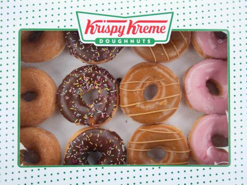 A box of Krispy Kreme donuts at a Tesco Extra store in Wisbech, Cambridgeshire (Joe Giddens/ PA)