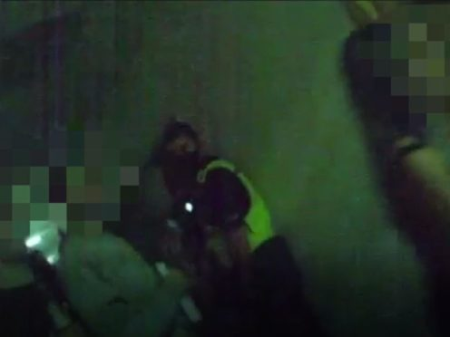 Screen grab issued by Northumbria Police of police being called to an illegal rave in Newcastle (Handout/PA)