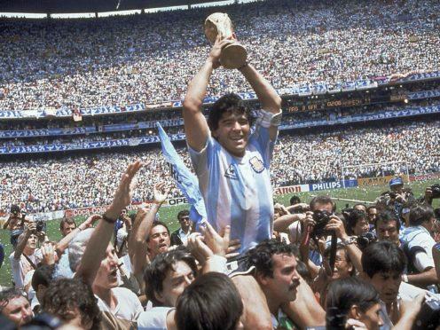 Diego Maradona led Argentina to World Cup glory in 1986 (Carlo Fumagalli/AP).