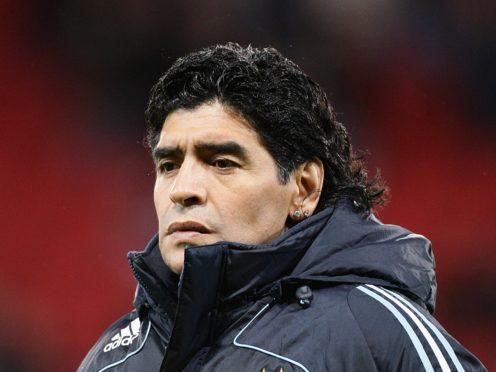 Diego Maradona has died at the age of 60 (Martin Rickett/PA)