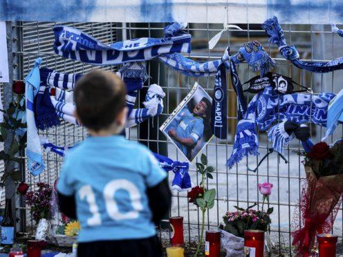Diego Maradona is a hero for Napoli fans (Alessandro Garofalo/LaPresse via AP)