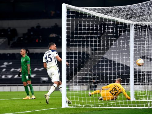 Carlos Vinicius scored twice to help Tottenham beat Ludogorets 4-0 and remain on track for the knock-out stage of the Europa League (Dylan Martinez/PA)
