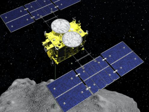 The Japanese spacecraft Hayabusa2 is nearing Earth after a year-long journey home (ISAS/JAXA via AP)