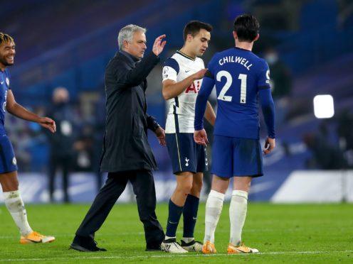 Tottenham Hotspur manager Jose Mourinho after the Premier League match at Stamford Bridge, London.