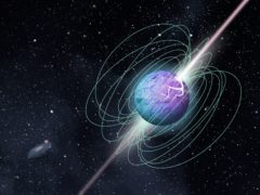 Artist's impression of a magnetar in outburst (McGill University Graphic Design Team/PA)