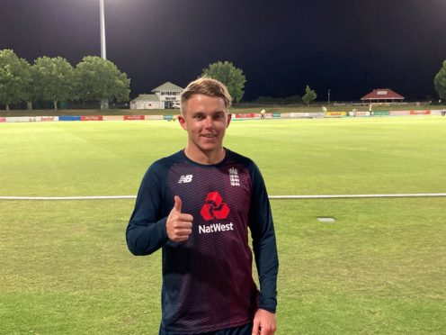 Sam Curran hit 45 not out in just 18 balls in Paarl (Rory Dollard/PA)