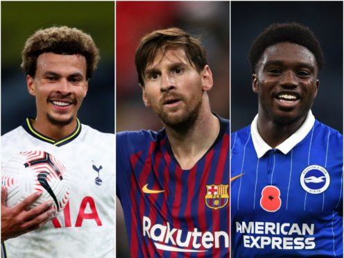 The futures of Dele Alli, Lionel Messi and Tariq Lamptey are in the latest football rumours (PA)