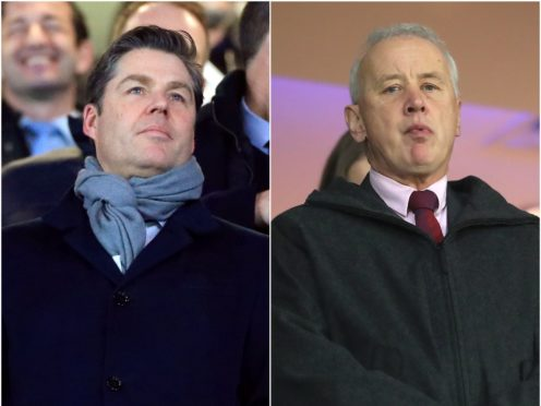Premier League chief executive Richard Masters, left, and EFL boss Rick Parry, right, have been locked in talks (Mike Egerton/PA)