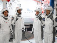 Crew-1 astronauts Shannon Walker, Victor Glover, Michael Hopkins and Soichi Noguchi (Nasa/SpaceX)