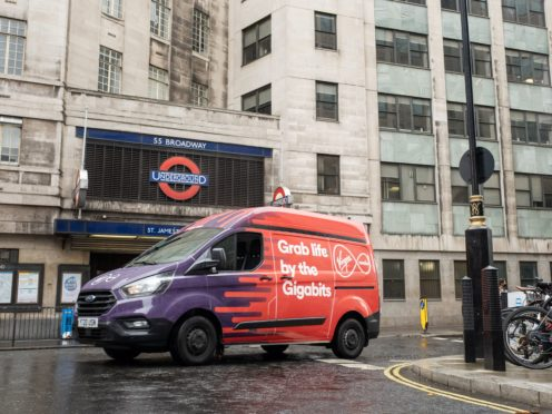 Virgin Media brings its gigabit broadband service to London and Northern Ireland (Michael Leckie/Virgin Media/PA)