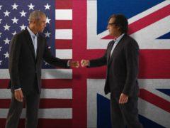 Barack Obama and David Olusoga (BBC Arts/PA)