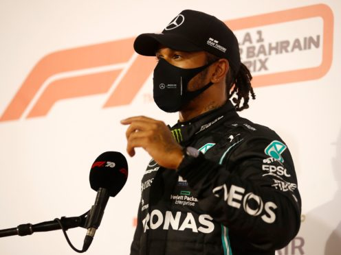 Lewis Hamilton's 98th pole puts him on track to complete his century before the end of the year (Hamad Mohammed/AP)