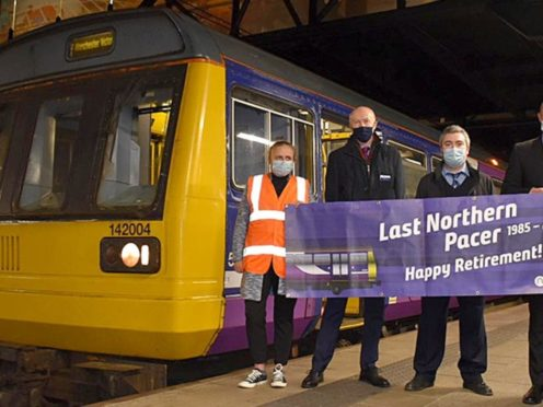 The last Northern Pacer to carry customers made its final journey from Kirkby to Manchester Victoria (Northern/PA)