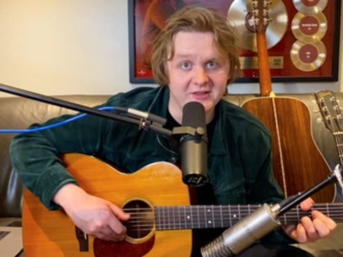 Lewis Capaldi performed a set from his home (Nordoff Robbins/PA)
