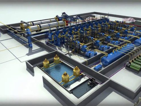 A gasification plant at Holistic Energy's proposed site in Peterhead (Holistic Energy/PA)