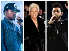 Chance The Rapper, Dionne Warwick and The Weeknd (PA)